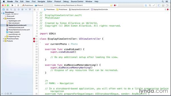 Step three: Defining the model: iOS 8 App Development with Swift 1 Essential Training