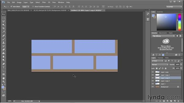 Drawing a bond pattern for selection and color: 3D Textures: Brick