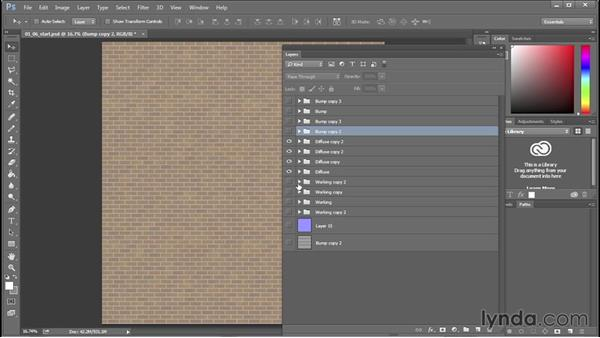 Creating specular and roughness maps: 3D Textures: Brick