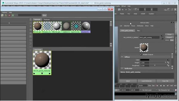Creating a brick material and linking the textures: 3D Textures: Brick