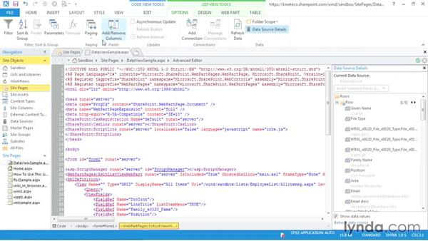 Customizing the Data View Web Part: SharePoint Designer 2013: Creating Data-Driven Sites