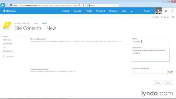 Creating external lists: SharePoint Designer 2013: Creating Data-Driven Sites