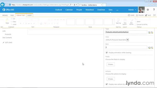 Displaying an external item with the Business Data Item Web Part: SharePoint Designer 2013: Creating Data-Driven Sites