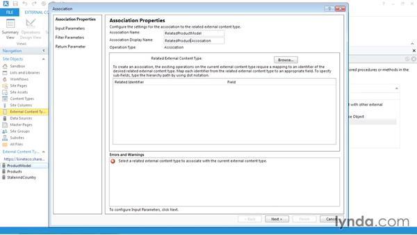 Creating an association between external content types: SharePoint Designer 2013: Creating Data-Driven Sites