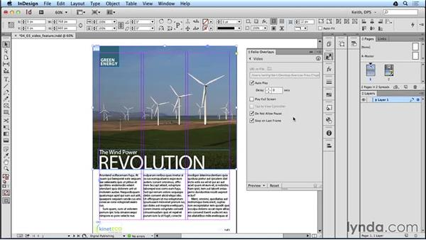Using video in a layout: Adobe Digital Publishing Suite Interactive Techniques