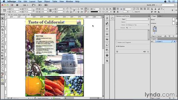 Creating a scrollable frame that reveals content below: Adobe Digital Publishing Suite Interactive Techniques