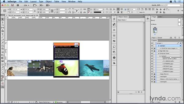 Editing scrollable-frame content: Adobe Digital Publishing Suite Interactive Techniques