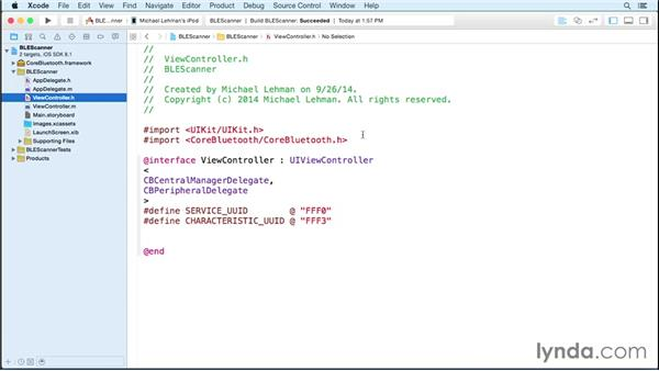Creating the Bluetooth scanner app: Programming the Internet of Things with iOS