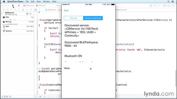 Scanning for services and characteristics: Programming the Internet of Things with iOS