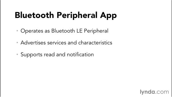 Creating the Bluetooth peripheral app: Programming the Internet of Things with iOS