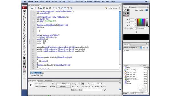 Accessing NetStream metadata : Flash CS3 Interactive Video Techniques