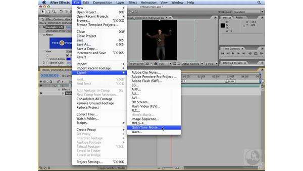 Exporting a QuickTime movie with transparency: Flash CS3 Interactive Video Techniques