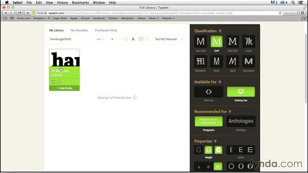 Choosing and syncing fonts (CC 2014.1): InDesign Typography (2012)