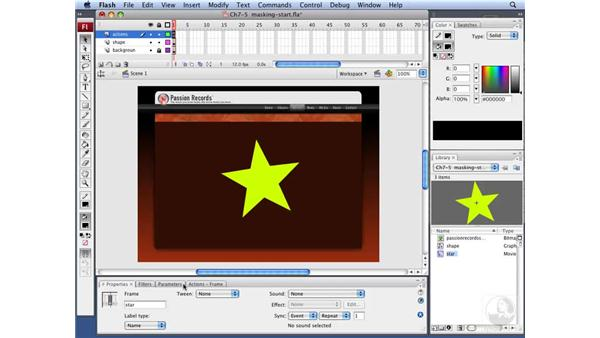 Masking video in Flash with ActionScript: Flash CS3 Interactive Video Techniques