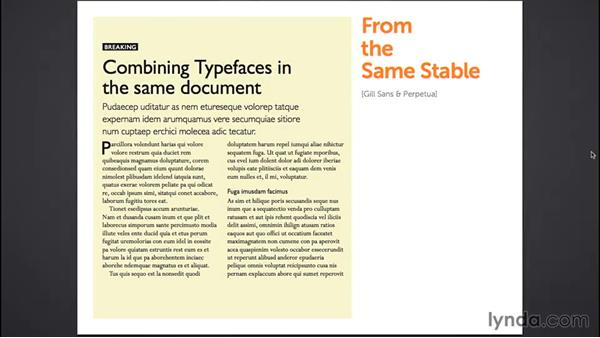 Combining typefaces (CC 2014.1): InDesign Typography (2012)