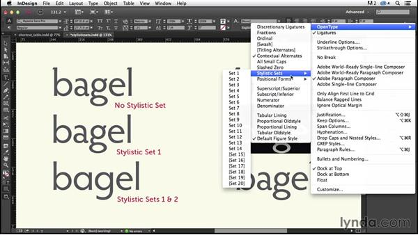 Stylistic sets (CC 2014.1): InDesign Typography (2012)