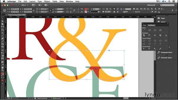 Creating an interlocking effect (CC 2014.1): InDesign Typography (2012)