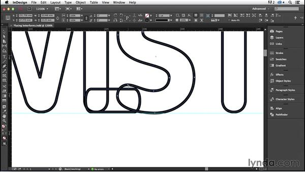 Fusing letterforms (CC 2014.1): InDesign Typography (2012)