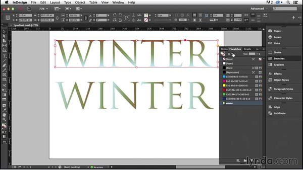 Type and gradients (CC 2014.1): InDesign Typography (2012)