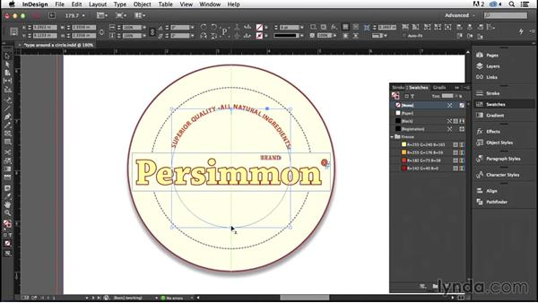 Type on a path: Circles (CC 2014.1): InDesign Typography (2012)
