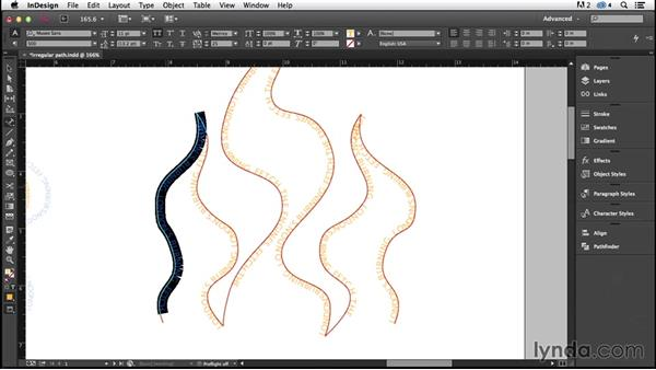 Type on a path: Calligram (CC 2014.1): InDesign Typography (2012)