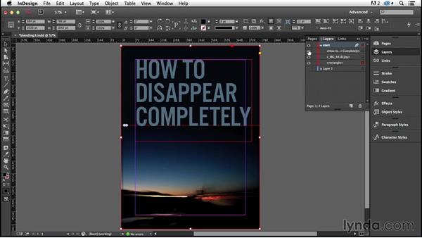 """Type and image: """"Disappearing"""" type (CC 2014.1): InDesign Typography (2012)"""