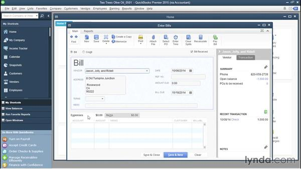 Paying vendor deposits: QuickBooks Advanced Bookkeeping Techniques