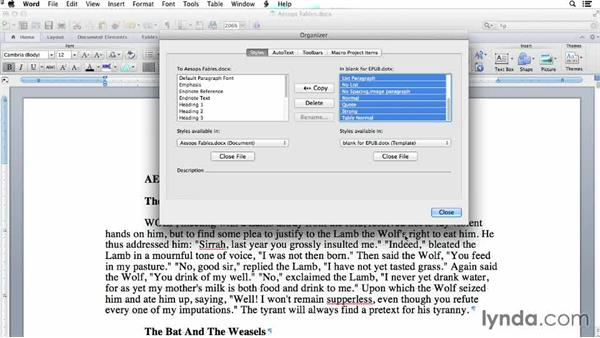 Starting with an existing document: Creating EPUBs from a Word Document