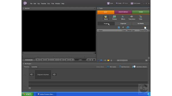 Importing video footage: Premiere Elements 4 Essential Training