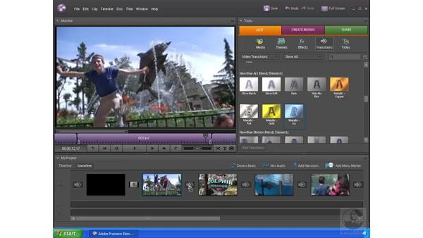 Adding transitions and effects: Premiere Elements 4 Essential Training