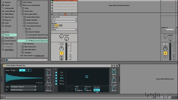Sound design with Convolution Reverb: Up and Running with Max for Live