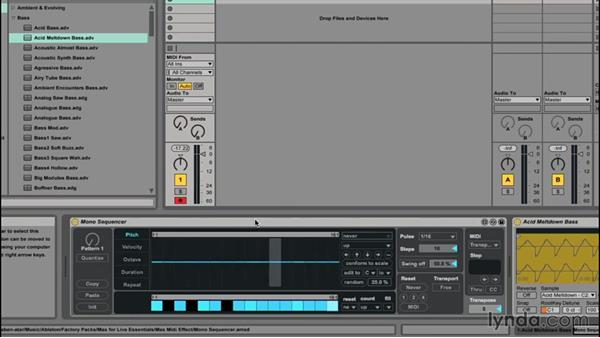 Sequencing using the Mono Sequencer: Up and Running with Max for Live