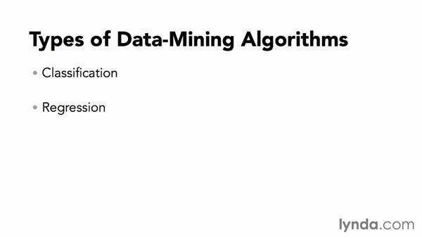 Types of data-mining algorithms: Excel Data-Mining Fundamentals