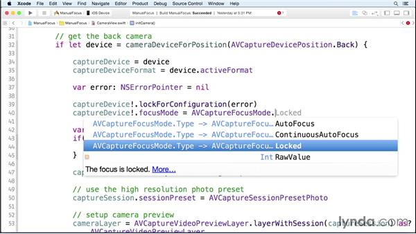Adding manual camera controls: iOS 8 SDK New Features