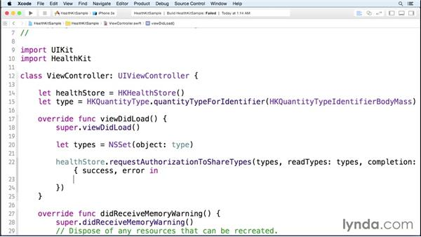 Updating and accessing health data: iOS 8 SDK New Features