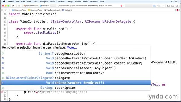 Adding a document picker control: iOS 8 SDK New Features
