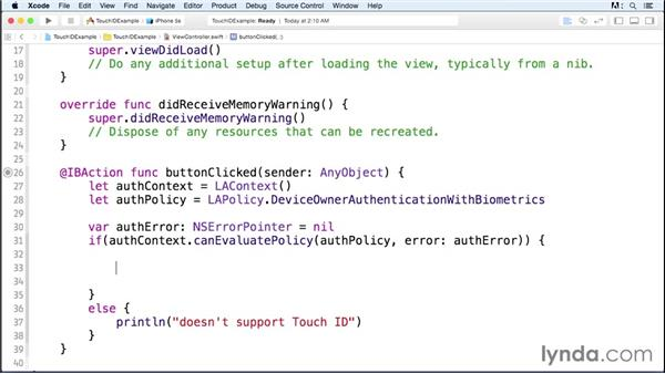 Authenticating with Touch ID: iOS 8 SDK New Features