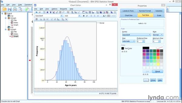 Modifying Chart Builder graphs: SPSS Statistics Essential Training