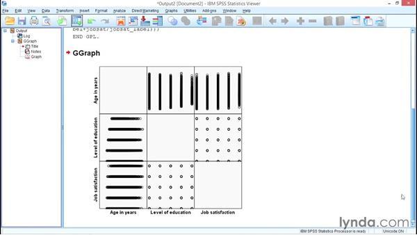 Scatterplot matrices: SPSS Statistics Essential Training