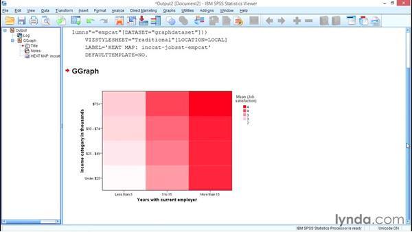 Heat maps: SPSS Statistics Essential Training