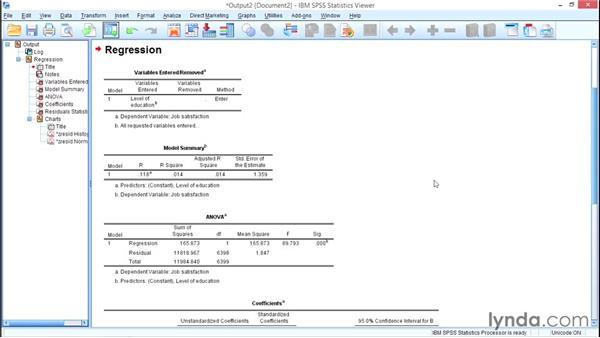Bivariate regression: SPSS Statistics Essential Training