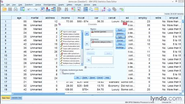 Two categorical variables: Crosstabulations: SPSS Statistics Essential Training