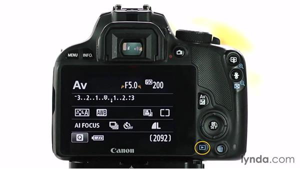 A guided tour: Buttons and controls: Up and Running with the Canon Rebel SL1 (100D and Kiss X7)