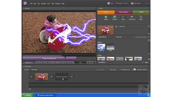 Previewing a video: Premiere Elements 4 Essential Training