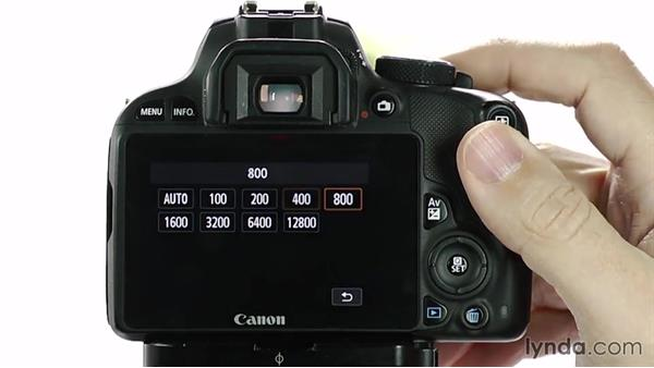 Changing ISO: Up and Running with the Canon Rebel SL1 (100D and Kiss X7)