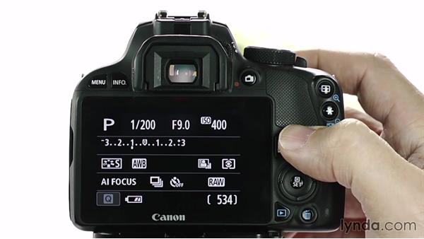 Adjusting exposure compensation: Up and Running with the Canon Rebel SL1 (100D and Kiss X7)