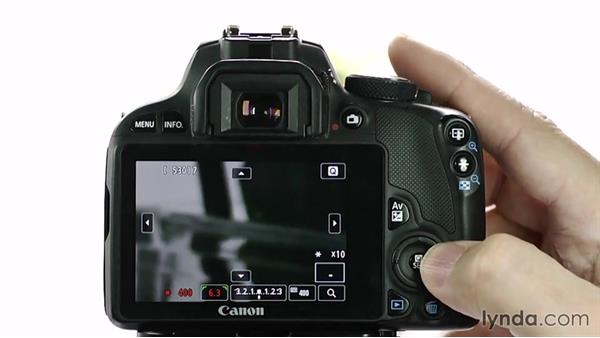Using Live view: Up and Running with the Canon Rebel SL1 (100D and Kiss X7)