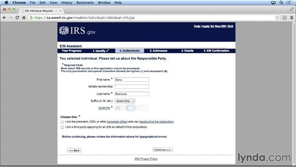 Establishing an IRS tax ID: Setting Up Your Small Business as a Legal Entity