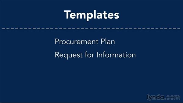 Using course files: Managing Project Procurement