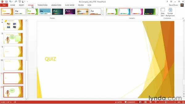Using multiple templates in one presentation: PowerPoint 2013 Power Shortcuts